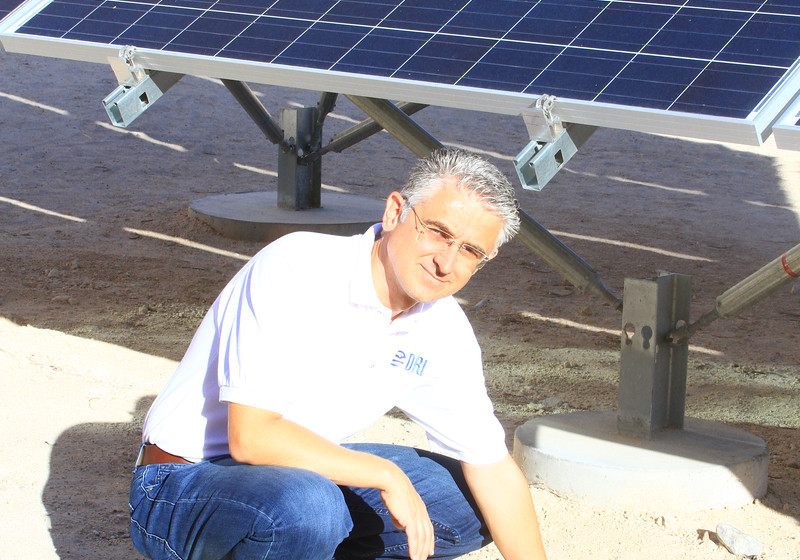 Markus Berli with Solar Panels