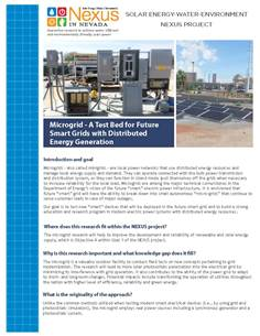 Microgrid-A Test Bed for Future Smart Grids with Distributed Energy Generation Handout