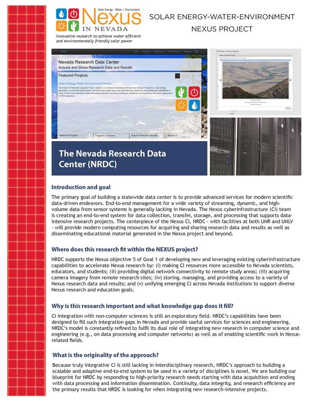 The Nevada Research Data Center (NRDC) Handout