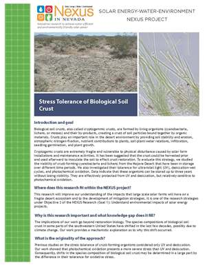 Stress Tolerance of Biological Soil Crust Handout