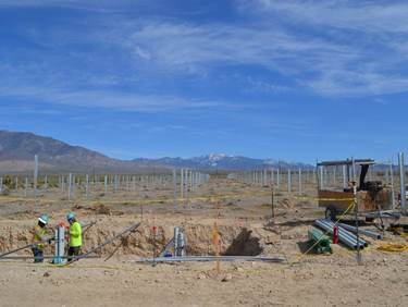 VEA Community Solar Project Construction