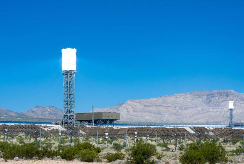A wide view of the Ivanpah Solar Plant