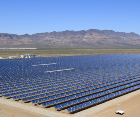 An aerial view of the Devitt Solar Panels