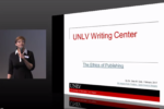 Dr. Gina Sully leads a presentation at the UNLV Writing Center