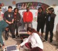 Cover of Discoveries Magazine Feb 2018, Students explore solar concepts with a classroom solar kit.
