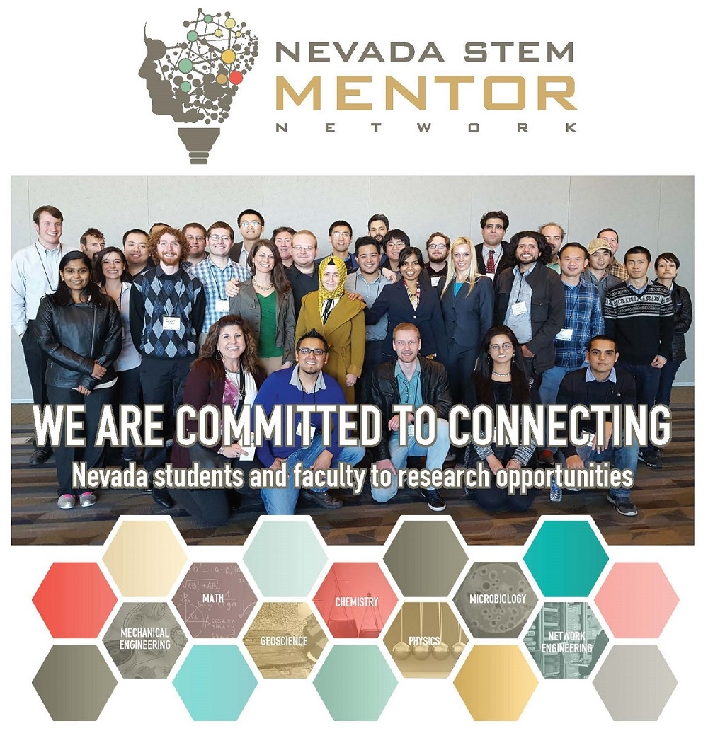 The homepage for the Nevada STEM Mentor Network site