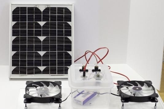 solar-powered circuit with lights and fans kit