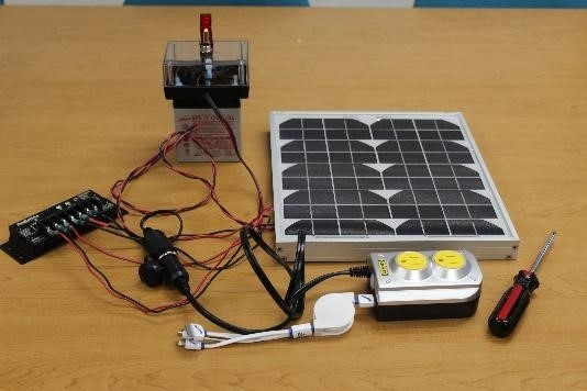 solar power system and storage kit