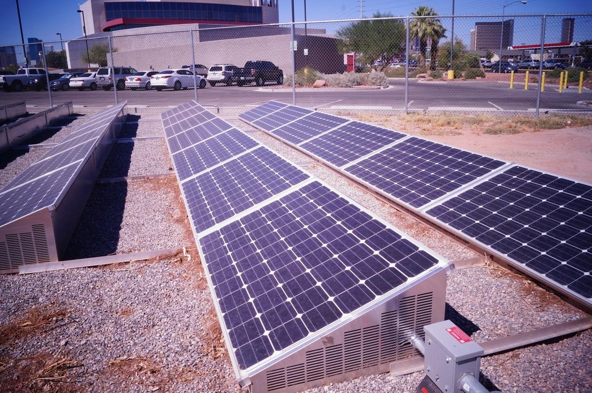 Solar Panels UNLV by Lori Ciccone