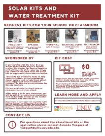 Solar Kits and Water Treatment Kit