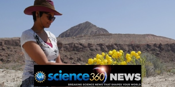 Dr. Abella conducts research in a serene desert landscape