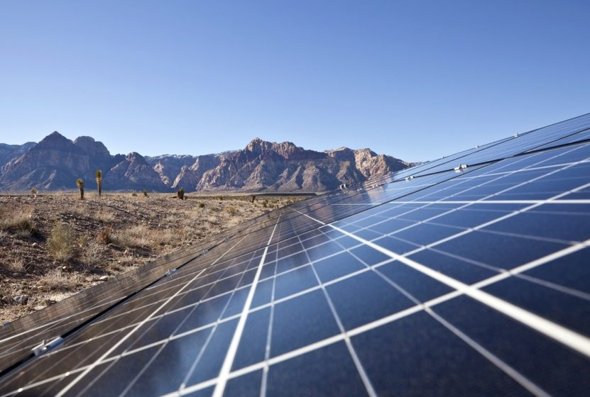 Mojave desert solar array