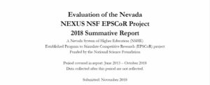 Evaluation of the Nevada NEXUS NSF EPSCoR Project  2018 Summative Report
